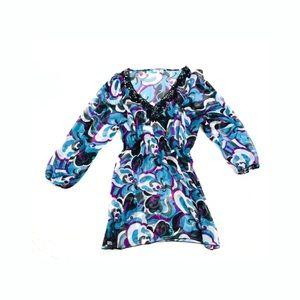 Kiwi saint tropes floral Sequin Neck tunic xl